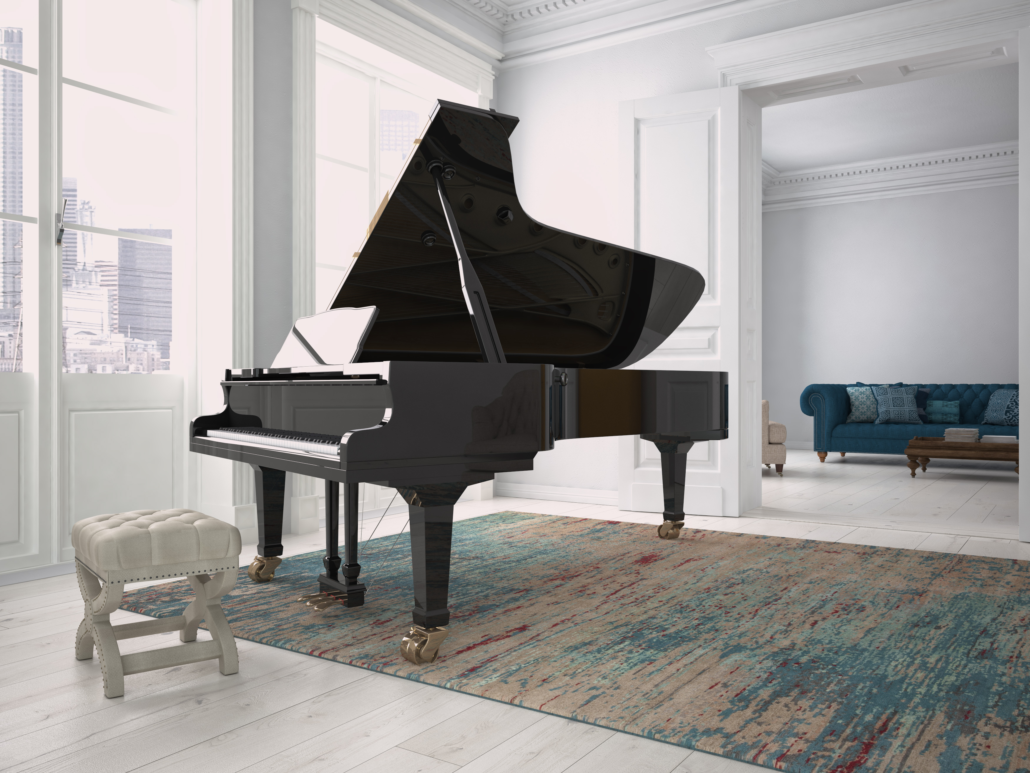 Piano teacher studio